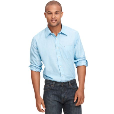 Image for POPLIN SOLID POCKET SHIRT from Tommy Hilfiger USA