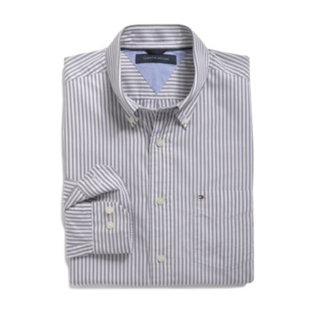 YARN DYED POPLIN STRIPE SHIRT