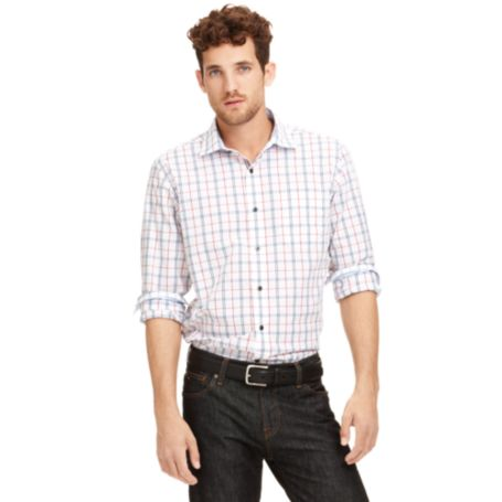 Image for SLIM FIT PLAID SHIRT from Tommy Hilfiger USA