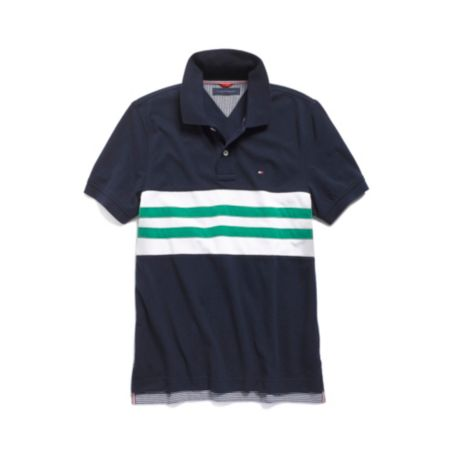 Image for STRIPED PIECED POLO from Tommy Hilfiger USA