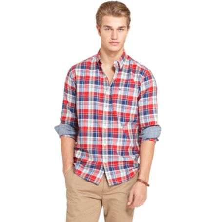 Image for COTTON PLAID SHIRT from Tommy Hilfiger USA