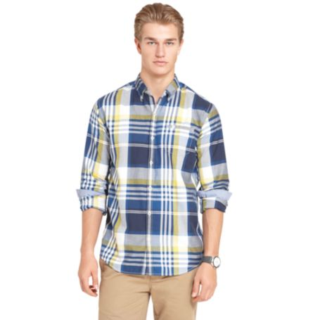 Image for COTTON TWILL CHECK SHIRT from Tommy Hilfiger USA