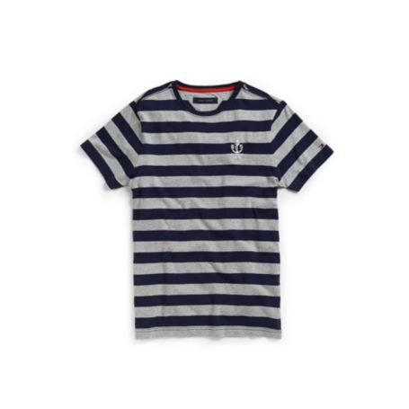 Image for STRIPE CREW NECK TEE from Tommy Hilfiger USA