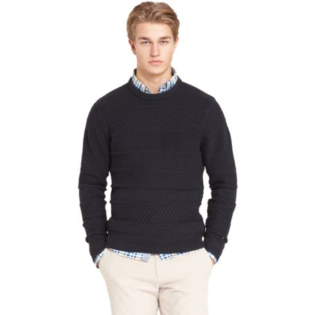 Image for TEXTURED CABLE SWEATER from Tommy Hilfiger USA