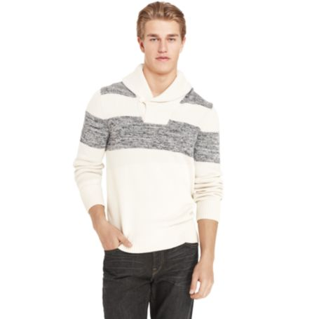 Image for STRIPE SHAWL COLLAR SWEATER from Tommy Hilfiger USA