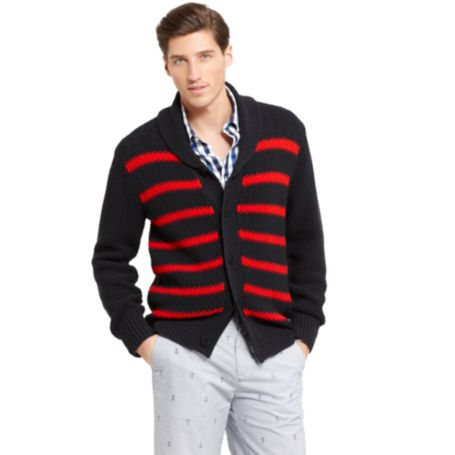 Image for STRIPE SHAWL CARDGIAN from Tommy Hilfiger USA