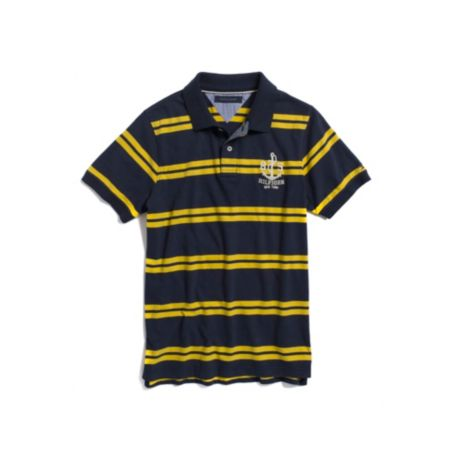 Image for SUEDED JERSEY STRIPED POLO from Tommy Hilfiger USA