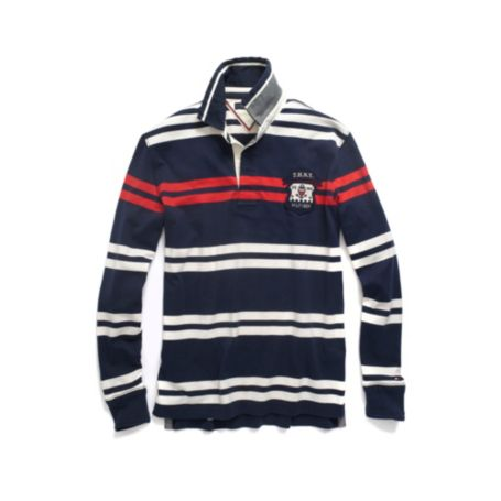 Image for LONG SLEEVE STRIPE RUGBY from Tommy Hilfiger USA