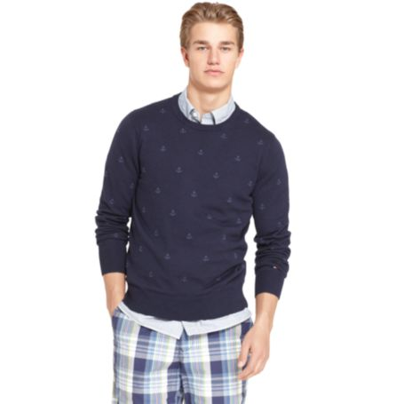 Image for ANCHOR CREW NECK SWEATER from Tommy Hilfiger USA