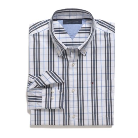 Image for CUSTOM FIT WINDOWPANE SHIRT from Tommy Hilfiger USA
