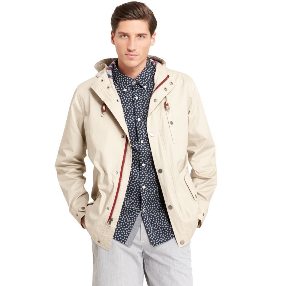 Image for COTTON HOODED JACKET from Tommy Hilfiger USA