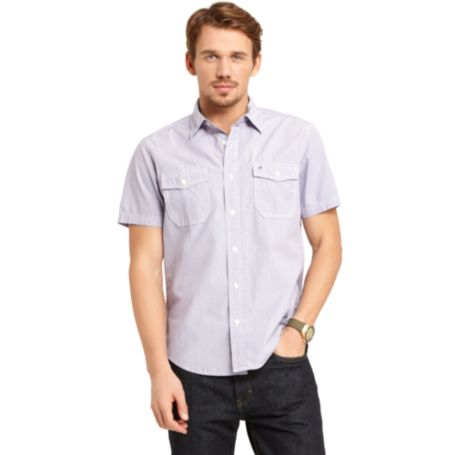 Image for CUSTOM FIT SHORT SLEEVE SHIRT from Tommy Hilfiger USA