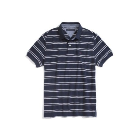 Image for STRIPE SHORT SLEEVE POLO from Tommy Hilfiger USA