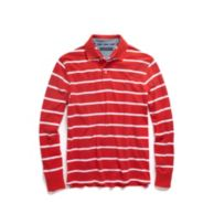 LONG SLEEVE STRIPE POLO $39.99