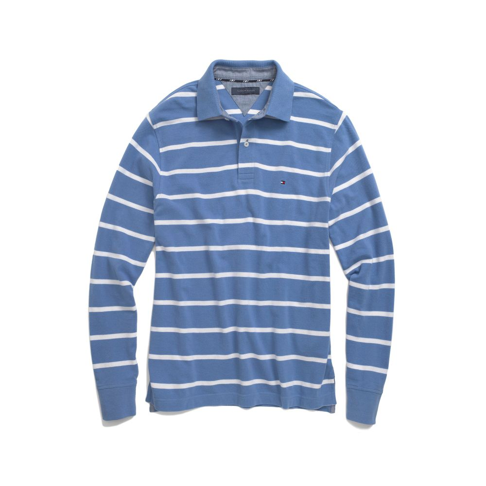 Image for LONG SLEEVE STRIPE POLO from Tommy Hilfiger USA