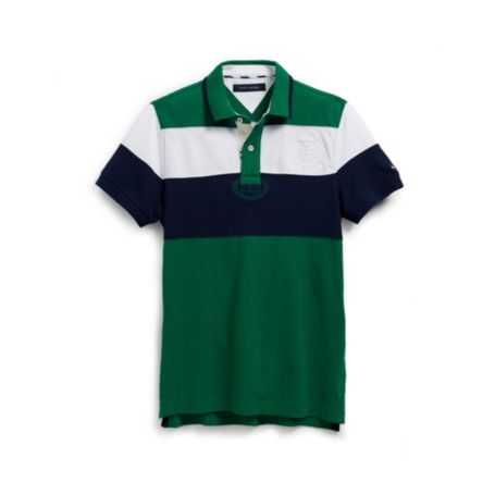 Image for DOUBLE STRIPE CREST POLO from Tommy Hilfiger USA