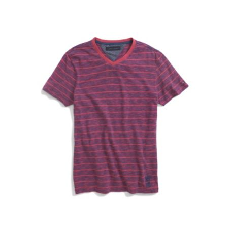 Image for STRIPE VNECK TEE from Tommy Hilfiger USA