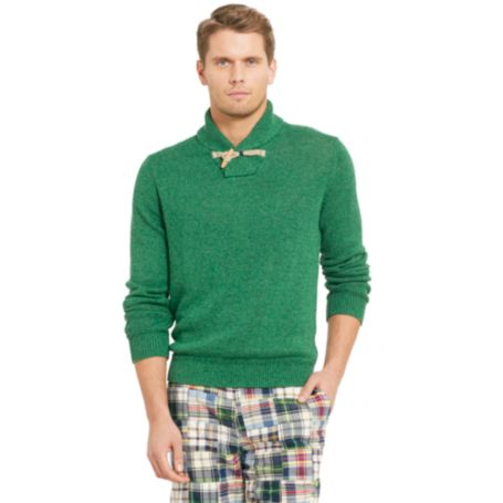 Image for SHAWL NECK TOGGLE SWEATER from Tommy Hilfiger USA