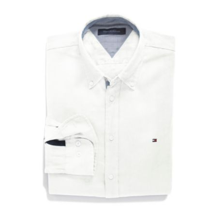 Image for CUSTOM FIT SOLID LINEN SHIRT from Tommy Hilfiger USA