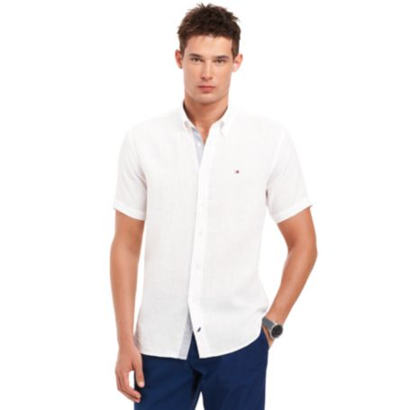Image for CUSTOM FIT LINEN SHIRT from Tommy Hilfiger USA