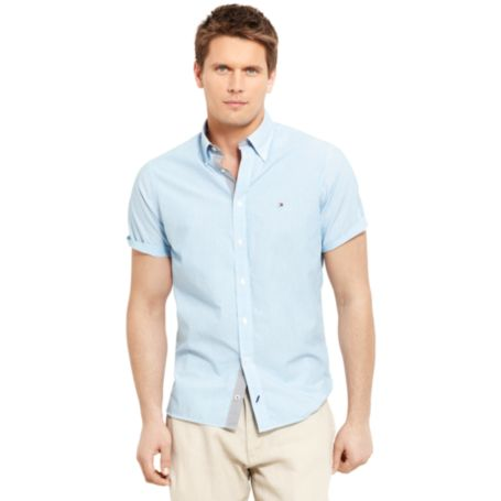 Image for SHORT SLEEVE STRIPE SHIRT from Tommy Hilfiger USA