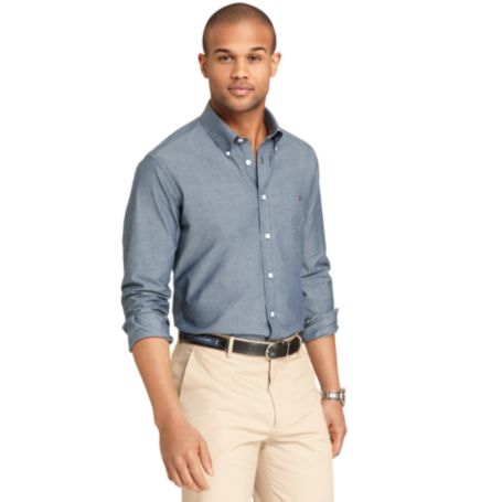 Image for CUSTOM FIT CHAMBRAY DOT SHIRT from Tommy Hilfiger USA