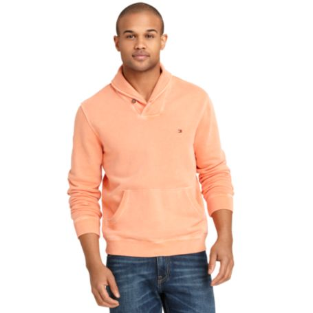Image for SOLID SHAWL NECK FLEECE from Tommy Hilfiger USA