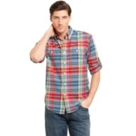SLIM FIT MADRAS SHIRT $44.99
