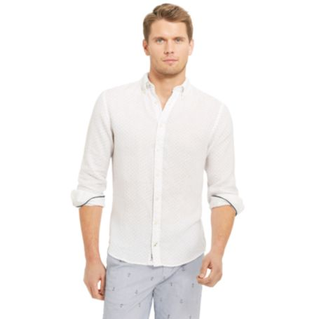 Image for LONG SLEEVE SOLID SHIRT from Tommy Hilfiger USA