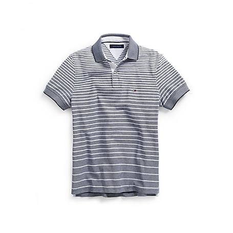 Tommy Hilfiger Custom Fit Oxford Stripe Polo - Blue - S