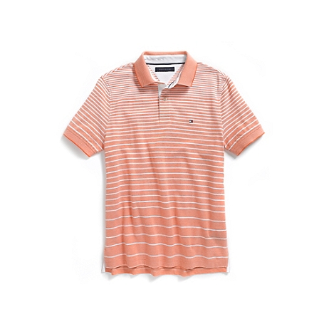 Tommy Hilfiger Custom Fit Oxford Stripe Polo - Multi-Color - L