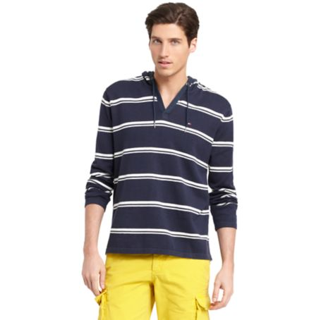 Image for STRIPED HOODED PULLOVER SWEATER from Tommy Hilfiger USA