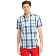CUSTOM FIT PLAID SHIRT $42.00