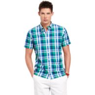 CUSTOM FIT PLAID SHIRT $78.00