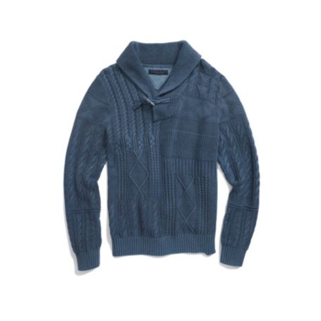 Image for SHAWL NECK SWEATER WITH TOGGLE from Tommy Hilfiger USA