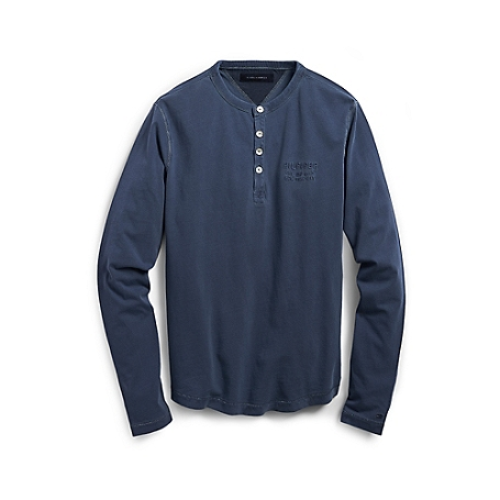 Tommy Hilfiger Garment Dyed Henley - Blue - Xl