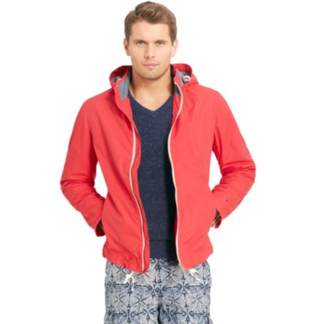 Image for NYLON ZIP UP JACKET WITH HOOD from Tommy Hilfiger USA