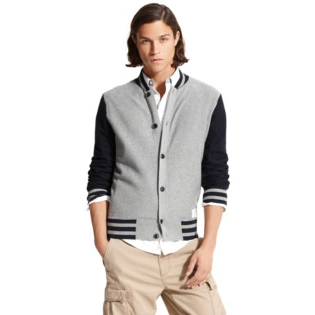 Image for BUTTON DOWN BASEBALL CARDIGAN from Tommy Hilfiger USA
