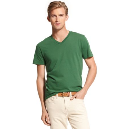Image for CUSTOM FIT VNECK TEE SHIRT from Tommy Hilfiger USA