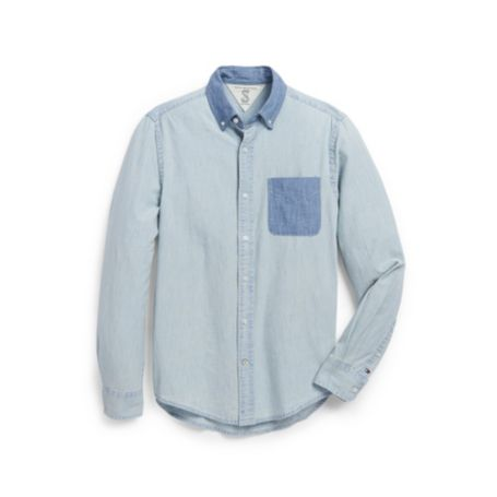 Image for CUSTOM FIT CHAMBRAY SHIRT from Tommy Hilfiger USA