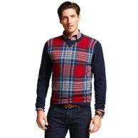 PLAID CREW NECK SWEATER $169.00
