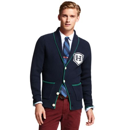 Image for TIPPED CARDIGAN WITH BADGE from Tommy Hilfiger USA