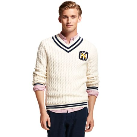 Image for V NECK CRICKET SWEATER from Tommy Hilfiger USA