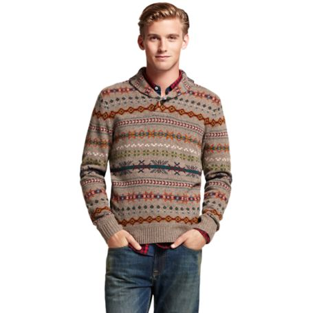 Image for FAIRISLE SHAWL NECK SWEATER from Tommy Hilfiger USA