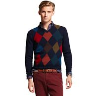 ARGYLE VNECK SWEATER $89.99