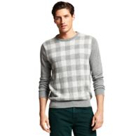 BUFFALO PLAID CREW NECK SWEATER $149.00