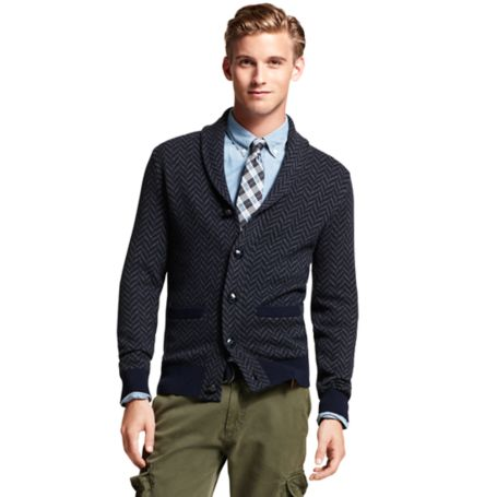 Image for SEMI-PRINT SHAWL CARDIGAN from Tommy Hilfiger USA