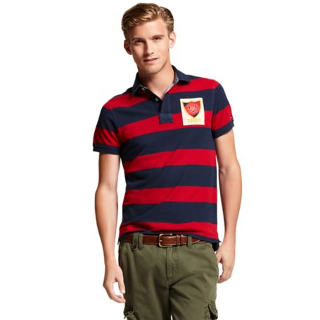 Image for SLIM FIT RUGBY STRIPE POLO from Tommy Hilfiger USA
