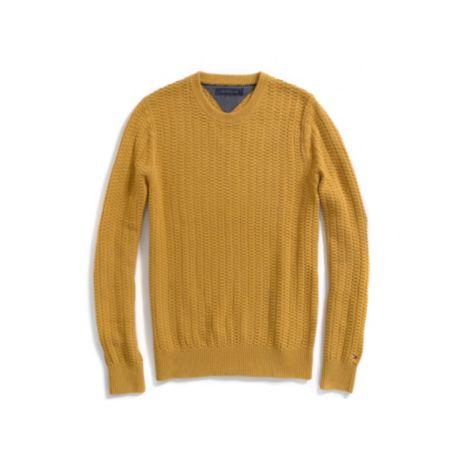 Image for TEXTURED CREW NECK SWEATER from Tommy Hilfiger USA