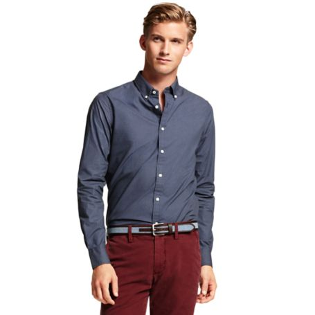 Image for SLIM FIT DOT PRINTED SHIRT from Tommy Hilfiger USA